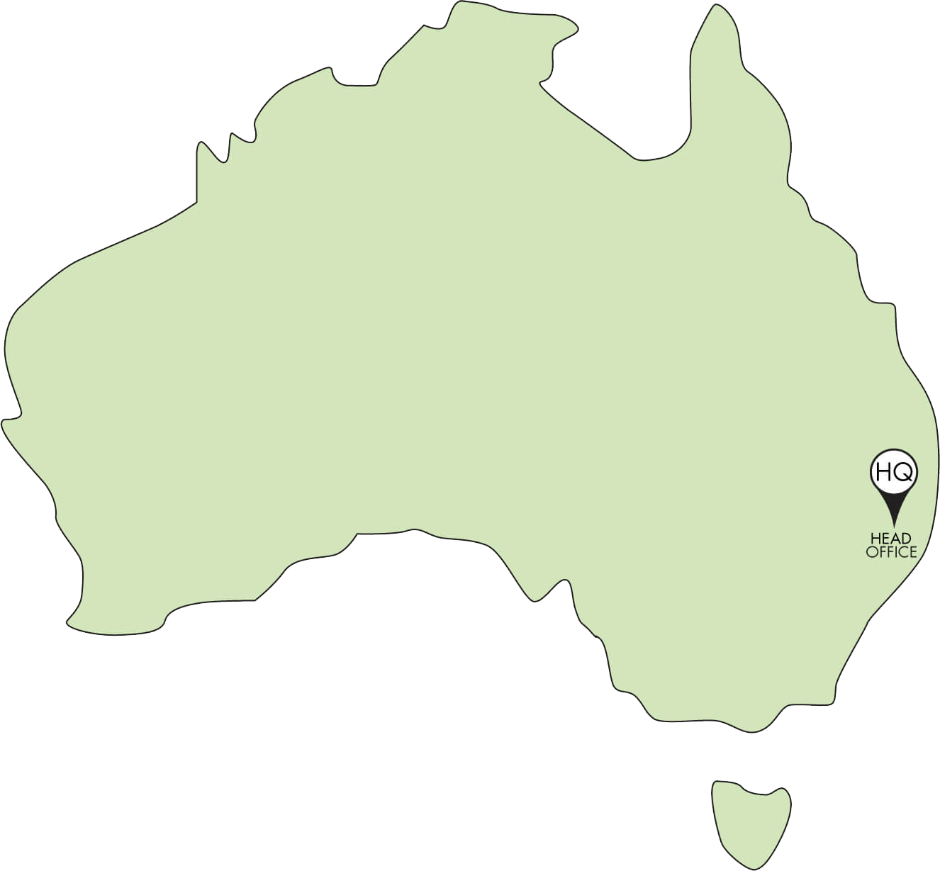 Bio Sculpture Australia Office Map